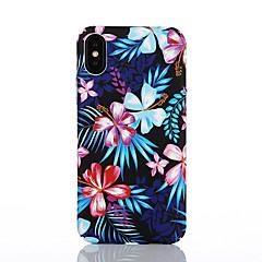 Недорогие Кейсы для iPhone 6 Plus-Кейс для Назначение Apple iPhone X / iPhone 8 С узором Кейс на заднюю панель Цветы Твердый ПК для iPhone X / iPhone 8 Pluss / iPhone 8