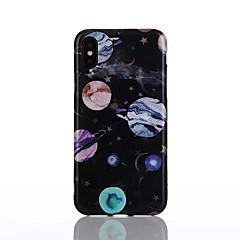 Недорогие Кейсы для iPhone 6-Кейс для Назначение Apple iPhone X / iPhone 8 IMD / С узором Кейс на заднюю панель Пейзаж Мягкий ТПУ для iPhone X / iPhone 8 Pluss /