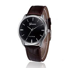 お買い得  メンズ腕時計-男性用 ドレスウォッチ 中国 クロノグラフ付き PU バンド カジュアル ブラウン