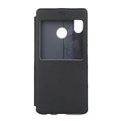 お買い得  Huawei Pシリーズケース/ カバー-ケース 用途 Huawei P20 lite ウィンドウ付き / フリップ / 超薄型 フルボディーケース ソリッド ハード PUレザー のために Huawei P20 lite