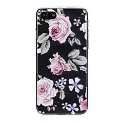 Недорогие Кейсы для iPhone X-Кейс для Назначение Apple iPhone X / iPhone 7 Ультратонкий / С узором / Милый Кейс на заднюю панель Цветы Мягкий ТПУ для iPhone X / iPhone 8 Pluss / iPhone 8