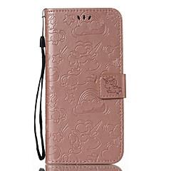 Недорогие Чехлы и кейсы для Xiaomi-Кейс для Назначение Xiaomi Redmi Примечание 5A / Mi 6X Бумажник для карт / Кошелек / со стендом Чехол Однотонный / единорогом Твердый