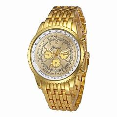 お買い得  ラグジュアリー腕時計-男性用 ドレスウォッチ 中国 クロノグラフ付き / 大きめ文字盤 / クール ステンレス バンド ぜいたく シルバー / ゴールド