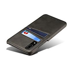 abordables Carcasas / Fundas para Huawei-Funda Para Huawei P20 / P20 Pro Nuevo diseño / Soporte de Coche Funda Trasera Un Color Dura Cuero de PU para Huawei P20 / Huawei P20 Pro