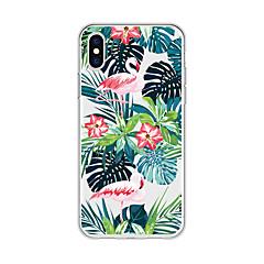 Недорогие Кейсы для iPhone 6 Plus-Кейс для Назначение Apple iPhone X / iPhone 8 Plus С узором Кейс на заднюю панель Растения / Фламинго / Мультипликация Мягкий ТПУ для