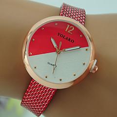 preiswerte Damenuhren-Damen Armbanduhr Chinesisch Armbanduhren für den Alltag Plastic Band Modisch Schwarz / Weiß / Rot