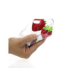 Недорогие Кейсы для iPhone 7-Кейс для Назначение Apple iPhone X / iPhone 7 Ультратонкий / С узором / Милый Кейс на заднюю панель Фрукты Мягкий ТПУ для iPhone X /