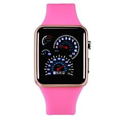preiswerte Herrenuhren-Herrn Damen digital Digitaluhr Chinesisch Wasserdicht Armbanduhren für den Alltag Kühle Wort / Phrase 3D Zeichentrick LCD Silikon Band