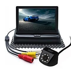 Недорогие Камеры заднего вида для авто-ZIQIAO 4.3inch TFT-LCD CCD Проводное 170° Комплект заднего вида для автомобилей Складной / Водонепроницаемый для Автомобиль
