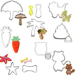 abordables Herramientas y accesorios para hornear-Herramientas para hornear Acero inoxidable Creativo Pan / Pastel Moldes para pasteles 10pcs