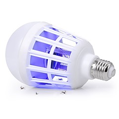 abordables Bombillas LED-YouOKLight 1pc 15W 320lm E26 / E27 Bombillas LED de Globo 24 Cuentas LED SMD 2835 Insecto Mosquito Fly Killer Blanco Violeta 110V