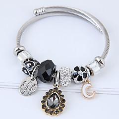 preiswerte Armbänder-Damen Quaste Bettelarmbänder - Tropfen, Blume Europäisch, Modisch Armbänder Weiß / Schwarz / Rosa Für Party