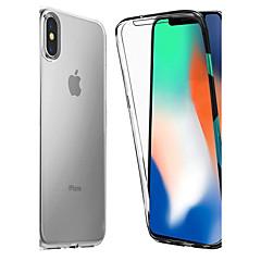 Недорогие Кейсы для iPhone-Кейс для Назначение Apple iPhone X / iPhone 8 Защита от удара / Прозрачный Чехол Однотонный Мягкий ТПУ для iPhone X / iPhone 8 Pluss / iPhone 8