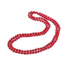 abordables Collares de perlas-Mujer Perla Largo Collar - Perla Artístico, Asiático, Lujo Rojo 140 cm Gargantillas 1pc Para Formal, Cumpleaños