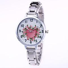お買い得  レディース腕時計-女性用 ドレスウォッチ / リストウォッチ 中国 クリエイティブ / カジュアルウォッチ / 愛らしいです 合金 バンド 花型 / Heart Shape シルバー / ゴールド / ローズゴールド