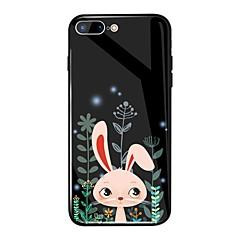 Недорогие Кейсы для iPhone 6-Кейс для Назначение Apple iPhone X / iPhone 8 Plus Зеркальная поверхность / С узором Кейс на заднюю панель Животное / Мультипликация Твердый Закаленное стекло для iPhone X / iPhone 8 Pluss / iPhone 8