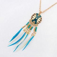preiswerte Halsketten-Damen Anhängerketten - Harz Stilvoll Kaffee, Regenbogen, Hellblau 72 cm Modische Halsketten 1pc Für Party / Abend, Schultaschen