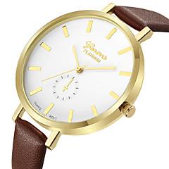 preiswerte Damenuhren-Geneva Damen Kleideruhr / Armbanduhr Chinesisch Neues Design / Armbanduhren für den Alltag / Cool Leder Band Freizeit / Modisch Braun