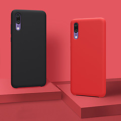 お買い得  Huawei Pシリーズケース/ カバー-ケース 用途 Huawei P20 / P20 Pro チャイルドセーフケース バックカバー ソリッド ソフト シリコーン のために Huawei P20 / Huawei P20 Pro / Huawei P20 lite