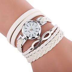 preiswerte Damenuhren-Damen Armband-Uhr Chinesisch Armbanduhren für den Alltag / lieblich / Imitation Diamant PU Band Böhmische / Modisch Schwarz / Weiß / Blau