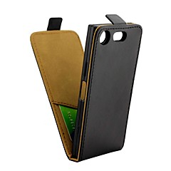 Недорогие Чехлы и кейсы для Sony-Кейс для Назначение Sony Xperia XZ1 Compact Бумажник для карт / Флип Чехол Однотонный Твердый Кожа PU для Xperia XZ1 Compact