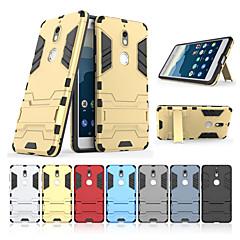Недорогие Чехлы и кейсы для Nokia-Кейс для Назначение Nokia Nokia 7 со стендом Кейс на заднюю панель Однотонный Твердый ПК для Nokia 7