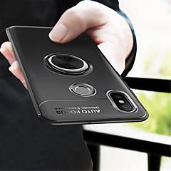 Недорогие Чехлы и кейсы для Xiaomi-Кейс для Назначение Xiaomi Mi 8 / Mi 6X Кольца-держатели Кейс на заднюю панель Однотонный Мягкий ТПУ для Xiaomi Mi Mix 2 / Xiaomi Mi Mix 2S / Xiaomi Mi 8