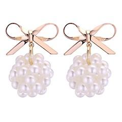 preiswerte Ohrringe-Damen Tropfen-Ohrringe - Künstliche Perle Stilvoll Gold / Weiß Für Alltag / Büro & Karriere