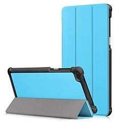Недорогие Чехлы и кейсы для Lenovo-Кейс для Назначение Lenovo Tab 7 Essential / Tab 7 со стендом / Флип Чехол Однотонный Твердый Кожа PU для Lenovo Tab 7 Essential / Lenovo
