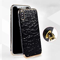 Недорогие Кейсы для iPhone 6 Plus-Кейс для Назначение Apple iPhone X / iPhone 8 Покрытие Кейс на заднюю панель Однотонный Мягкий Кожа PU для iPhone X / iPhone 8 Pluss / iPhone 8
