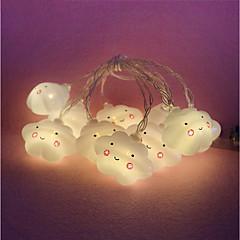 preiswerte LED Lichtstreifen-3M Leuchtgirlanden 20 LEDs Warmes Weiß Dekorativ 220-240 V 1pc