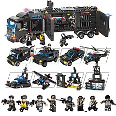 Χαμηλού Κόστους -Τουβλάκια 1095 pcs Οχήματα Παιχνίδια αποσυμπίεσης / Αλληλεπίδραση γονέα-παιδιού Δώρο
