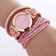 preiswerte Damenuhren-Xu™ Damen Armband-Uhr / Armbanduhr Chinesisch Kreativ / Armbanduhren für den Alltag / Imitation Diamant PU Band Böhmische / Modisch Schwarz / Weiß / Blau / Großes Ziffernblatt / Ein Jahr