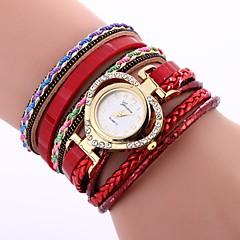 preiswerte Damenuhren-Xu™ Damen Armband-Uhr / Armbanduhr Chinesisch Kreativ / Armbanduhren für den Alltag / bezaubernd PU Band Heart Shape / Böhmische Schwarz / Blau / Rot