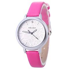 お買い得  レディース腕時計-Xu™ 女性用 リストウォッチ 中国 クリエイティブ / カジュアルウォッチ / 模造ダイヤモンド PU バンド ファッション / ミニマリスト ブラック / 白 / ブルー