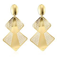 preiswerte Ohrringe-Damen Tropfen-Ohrringe - vergoldet Blattform Modisch Gold Für Geschenk / Alltag