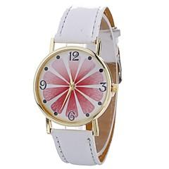 お買い得  レディース腕時計-Xu™ 女性用 ドレスウォッチ / リストウォッチ 中国 クリエイティブ / カジュアルウォッチ / かわいい PU バンド 花型 / ファッション ブラック / 白 / ブルー