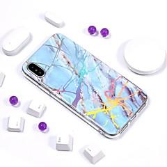 Недорогие Кейсы для iPhone 6-Кейс для Назначение Apple iPhone X / iPhone 8 Покрытие / IMD / С узором Кейс на заднюю панель Мрамор Мягкий ТПУ для iPhone X / iPhone 8