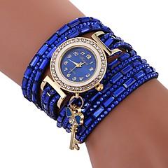 preiswerte Damenuhren-Xu™ Damen Armband-Uhr Armbanduhr Quartz Kreativ Armbanduhren für den Alltag Imitation Diamant PU Band Analog Heart Shape Modisch Schwarz / Weiß / Blau - Beige Rot Blau Ein Jahr Batterielebensdauer