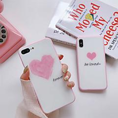 Недорогие Кейсы для iPhone 6-Кейс для Назначение Apple iPhone X / iPhone 7 Защита от пыли Кейс на заднюю панель Слова / выражения / С сердцем Твердый Силикон для