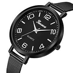 preiswerte Damenuhren-Geneva Damen Kleideruhr / Armbanduhr Chinesisch Neues Design / Armbanduhren für den Alltag / Cool Legierung Band Freizeit / Modisch Schwarz / Ein Jahr