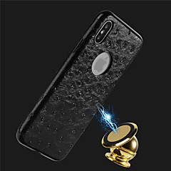 Недорогие Кейсы для iPhone 7 Plus-Кейс для Назначение Apple iPhone X / iPhone 8 Рельефный Кейс на заднюю панель Однотонный Мягкий Кожа PU для iPhone X / iPhone 8 Pluss / iPhone 8