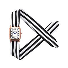 preiswerte Damenuhren-REBIRTH Damen Armbanduhr Chinesisch Chronograph / Niedlich / Kreativ Stoff Band Armreif / Elegant Schwarz / Weiß / Rot / Ein Jahr
