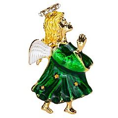 Недорогие Женские украшения-Жен. Скульптура Броши - Вера Дамы, Художественный, Простой Брошь Зеленый Назначение Повседневные
