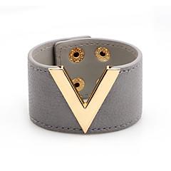 preiswerte Armbänder-Damen Niete Lederarmbänder - Leder Romantisch, Modisch Armbänder Braun / Rot / Blau Für Alltag / Verabredung