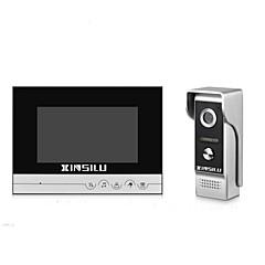 abordables Sistemas de Control de Acceso-xinsilu seguridad 7inch videoportero puerta timbre timbre intercomunicador sistema de control de acceso xsl-v70r-m4