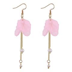 preiswerte Ohrringe-Damen Tropfen-Ohrringe - Künstliche Perle Blume Freizeit, Modisch Grün / Rosa / Dunkellila Für Alltag / Ausgehen