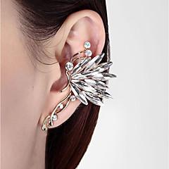 お買い得  イヤリング-女性用 3D 耳の袖口  -  バタフライ スタイリッシュ, クラシック ホワイト / レインボー 用途 日常