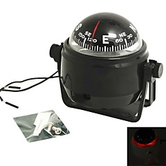 cheap Key Chains-Pivoting Compass Dashboard Dash Mount Marine Boat Truck Car Black with Led Light Compasses