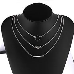preiswerte Halsketten-Damen Mehrschichtig Layered Ketten  -  Einfach, Europäisch, Modisch Gold, Silber 40 cm Modische Halsketten 1pc Für Alltag